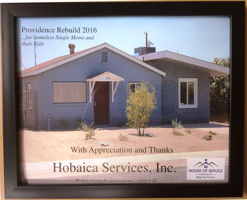 Hobaica Services Phoenix Providence Rebuild Project 2016