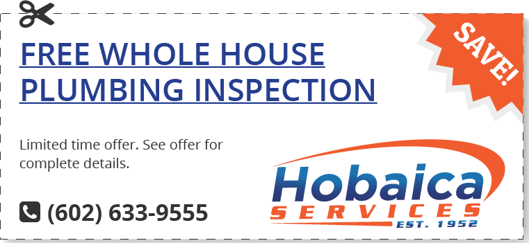 Worried you may have a hidden leak that's costing you in utilities and potential repairs? Let Hobaica conduct a FREE plumbing inspection when it's paired with another Hobaica service.